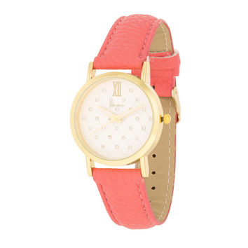 Fashion Accessories Gold Leather  Watch CORAL