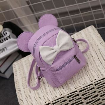 Cute Mickey Minnie Mouse Ears Backpack Bag