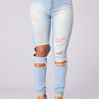 Beach Babe Jegging - Light