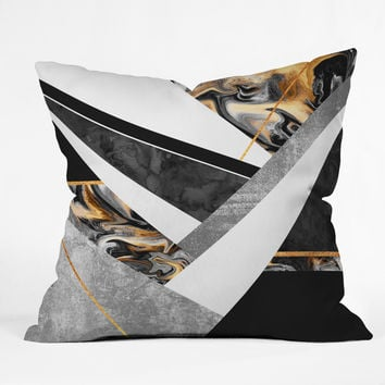 Elisabeth Fredriksson Lines and Layers Throw Pillow