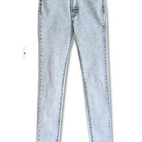 Blue High Waist Denim Pants
