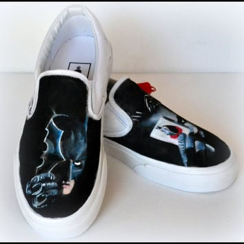 Personalized Mens Shoes, Gifts for Him, Custom Mens Superhero Shoes, Painted Vans, Teen Gifts, Personalized Boy Gifts