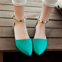Fashion Ankle Straps Flats Sandals Women Shoes 9710