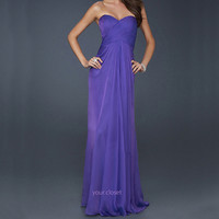 Elegant chiffon prom dress - purple (4colors) from Your Closet