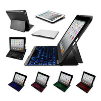 Slimmest Backlit iPad Hard Shell Case with Bluetooth Keyboard