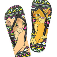 Disney The Lion King Simba & Nala Flip Flops