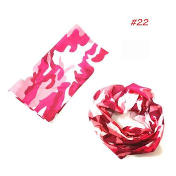 New Multi Function Scarf Riding Variety Turban Hood Magic Headband Veil Head Scarves Multi Function outdoors accessories F0235
