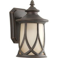 Progress Lighting, Resort Collection 1-Light Outdoor Aged Copper Wall Lantern, P5987-122DI at The Home Depot - Mobile