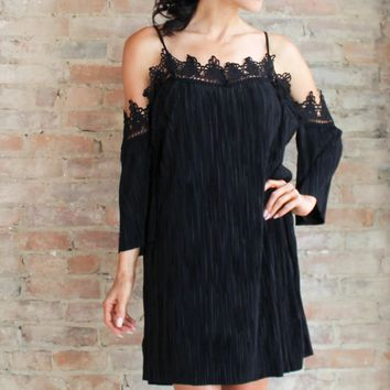 Valentia Off the Shoulder Dress - black