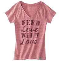 FEED for Target® Women's V-Neck Graphic Tee -Red