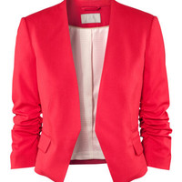 H&M Red Cropped Blazer