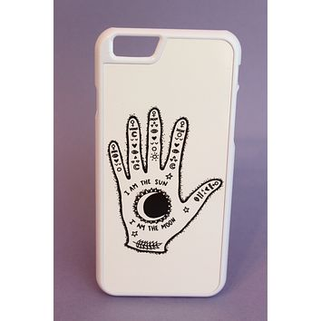 I am the Sun, I am the Moon Hand Phone Case