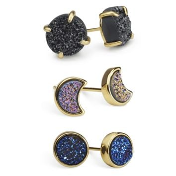 Druzy Outer Space Earring Set