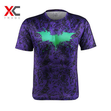 Marvel Super hero Avenger Batman Captain America T shirt Men Compression Armour Base Layer Thermal Under Sport Causal Tee S-4 XL