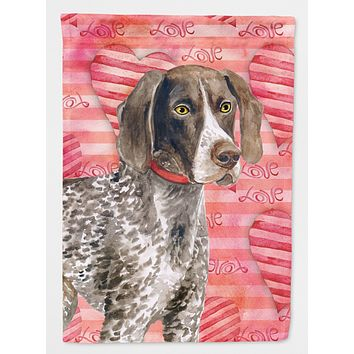 German Shorthaired Pointer Love Flag Canvas House Size BB9728CHF