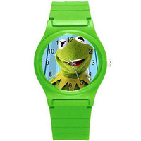 Kermit the Frog  on a Green Plastic Watch...Great for Children