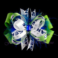 Seattle Seahawks Bow with Marabou