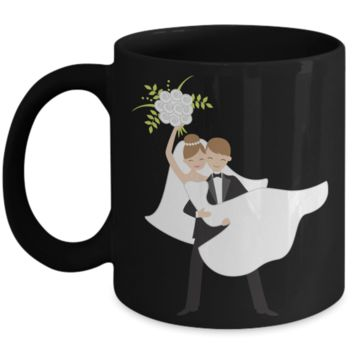 Future bride Coffee Mug - Black Porcelain Coffee Cup,Premium 11 oz White coffee cup