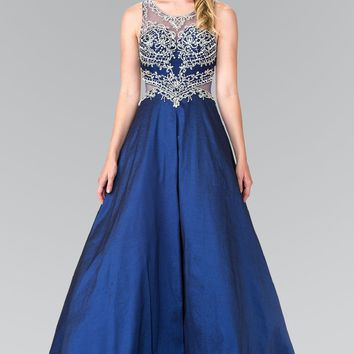 Navy ball gown prom quinceanera dress gls 2253