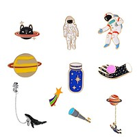 Space Travel Pins