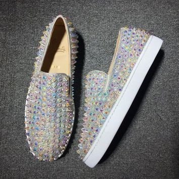 DCCKJ3V Cl Christian Louboutin Roller Style #2086 Sneakers Fashion Shoes