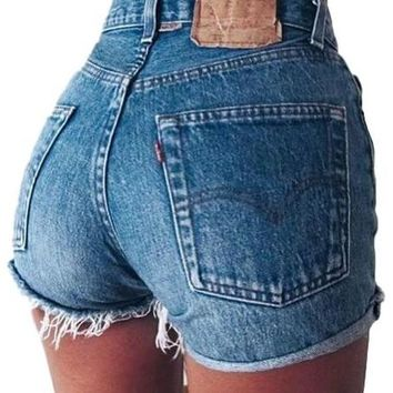 Mystery Denim Vintage High Waisted Shorts, All Sizes & Plus!