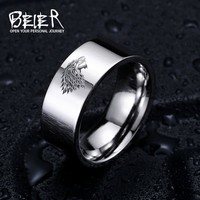 "Stainless Steel Ring ""Game of Thrones"" House Stark of Winterfell"