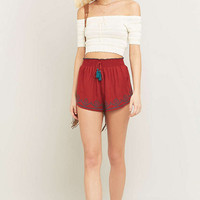 Staring at Stars Tassel Tie Orange Runner Shorts - Urban Outfitters