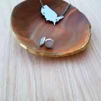 Brown & Gold - Fall Vibes Clay Jewelry Dish