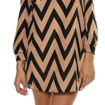 Pre- Order Chevron Loose fit dress from Monica's Closet Essentials