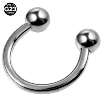 ac ICIKO2Q 1PC G23 Titanium Horseshoe Piercings Septo Nose Lip Eyebrow Ear Septum Cartilage Helix Captive Hoop Ring Piercing Labret Nariz