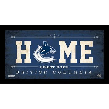 Vancouver Canucks 10x20 Home Sweet Home Sign