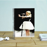 Canada Girl Singer Singing Photo Notebook Auroid