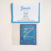 NEW! Wes Anderson The Life Aquatic Zissou Society iron-on replica fan patch