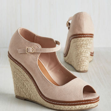 You Know the Espadrille Wedge in Blush | Mod Retro Vintage Heels | ModCloth.com