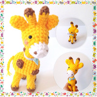 Amigurumi Giraffe Crochet Giraffe Stuffed Animal Stuffed Toy Giraffe Kids Toy Gift Ideas Kawaii Giraffe Plush Valentine's Day Gift