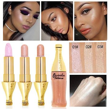 2017 New Brand Makeup For Women Glitter Color Cosmetic 1PC Waterproof Face Brighten Contouring Makeup Highlighter Shimmer Stick