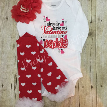 Shop Baby Girl Valentines Day Outfit on Wanelo