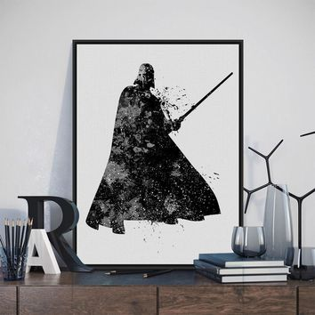 Black White Star Wars Darth Vader Pop Movie Large Canvas Art Print Poster Wall Picture Painting No Frame Modern Nordic Home Deco