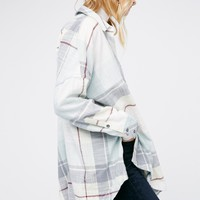 Free People Rainy Day Plaid Tunic
