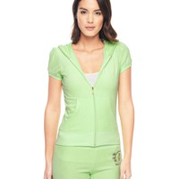Logo Terry Jc Palms Short Sleeve Jacket by Juicy Couture,