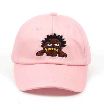 Kodak Black Cartoon Black & Pink Embroidered Cotton Dad Hat