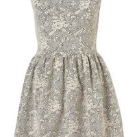 Jaquard Floral Flippy Dress - New In This Week  - New In