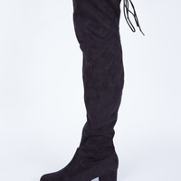 Back Tied Suede Boots