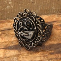 Elope Steampunk Antique Gear Ring