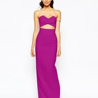 Solace London Bandeau Maxi Dress With Wrap Over Top