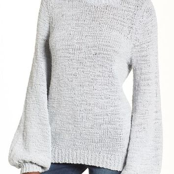Leith Blouson Sleeve Tape Yarn Sweater | Nordstrom
