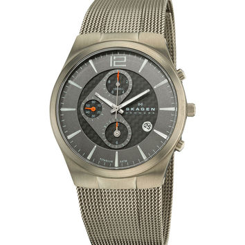 Skagen 906XLTTM Men's Denmark Titanium Grey & Black Dial Chronograph Watch