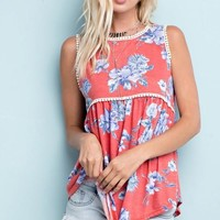Sunshine State of Mind Top - Coral