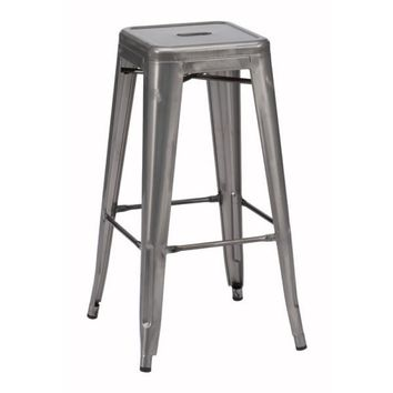 Pair of Marius Barstool Gunmetal